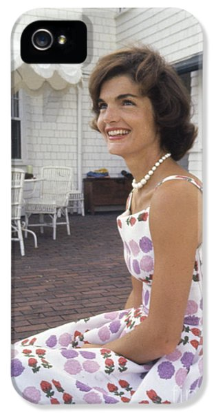 First Lady iPhone 5 Cases - Jacqueline Kennedy at Hyannis Port 1959 iPhone 5 Case by The Phillip Harrington Collection