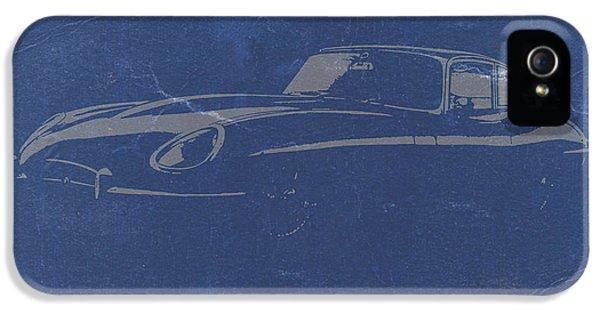 Concept Cars iPhone 5 Cases - Jaguar E Type iPhone 5 Case by Naxart Studio