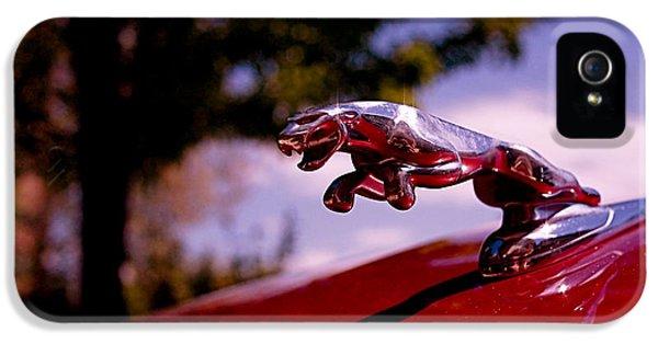 Automotive iPhone 5 Cases - Jaguar iPhone 5 Case by Rona Black