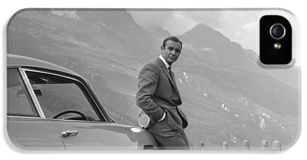 British iPhone 5 Cases - James Bond and his Aston Martin iPhone 5 Case by Nomad Art And  Design