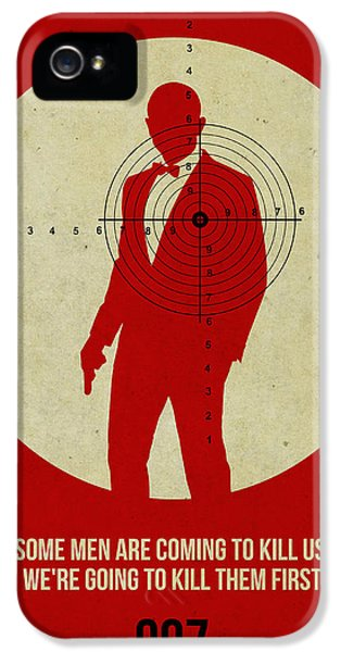 Tv Show iPhone 5 Cases - James Bond Skyfall Poster iPhone 5 Case by Naxart Studio
