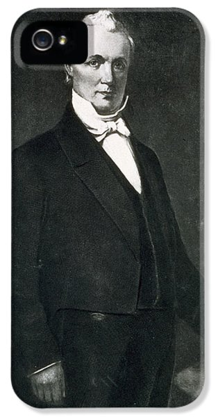 President Of The United States iPhone 5 Cases - James Buchanan iPhone 5 Case by Eliphalet Frazer Andrews