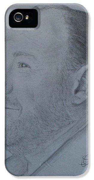 James Gandolfini iPhone 5 Cases - James Gandolfini iPhone 5 Case by Andrew Lahay