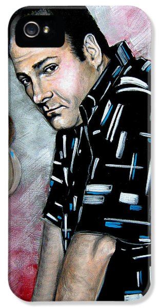 Tony Soprano iPhone 5 Cases - James Gandolfini as Tony Soprano iPhone 5 Case by Patrice Torrillo