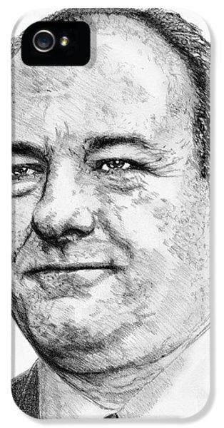 James Gandolfini iPhone 5 Cases - James Gandolfini in 2007 iPhone 5 Case by J McCombie
