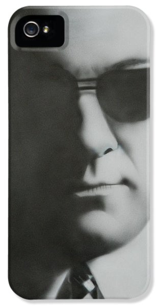 Tony Soprano iPhone 5 Cases - James Gandolfini/Tony Soprano iPhone 5 Case by Jake Rogers