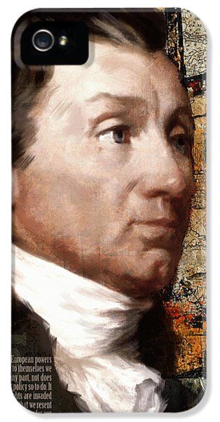 President Of The United States iPhone 5 Cases - James Monroe iPhone 5 Case by Corporate Art Task Force