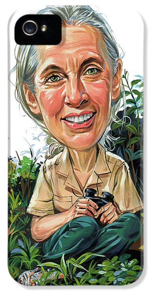 Jane Goodall IPhone 5 / 5s Case by Art