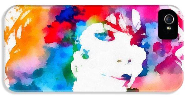Jackson 5 iPhone 5 Cases - Janet Jackson Watercolor Paint Splatter iPhone 5 Case by Dan Sproul