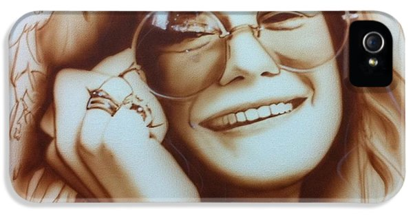 Janis Joplin - ' Janis ' IPhone 5 / 5s Case by Christian Chapman Art