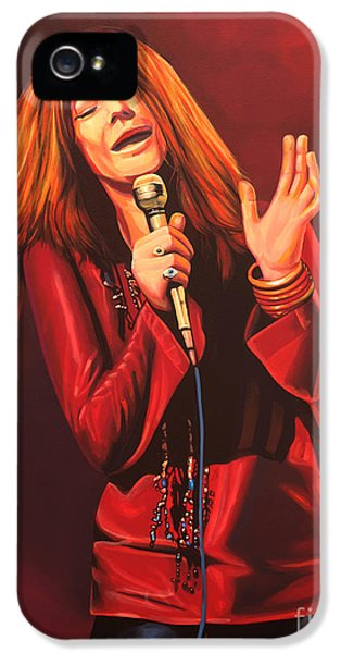 Pieces iPhone 5 Cases - Janis Joplin iPhone 5 Case by Paul  Meijering