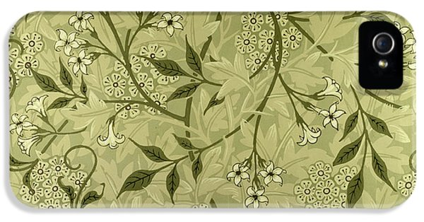 Arts And Crafts Movement iPhone 5 Cases - Jasmine wallpaper design iPhone 5 Case by William Morris