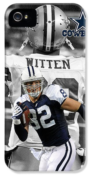 Balls iPhone 5 Cases - Jason Witten Cowboys iPhone 5 Case by Joe Hamilton