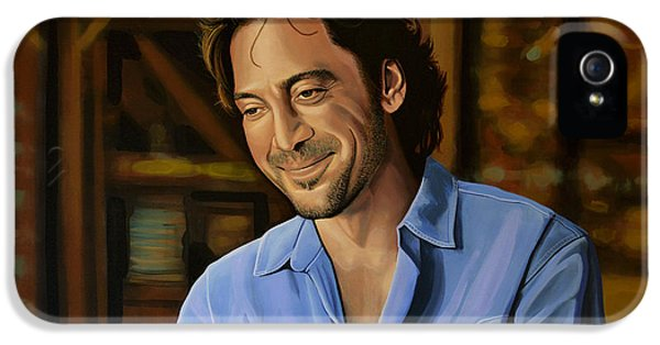 Eat iPhone 5 Cases - Javier Bardem iPhone 5 Case by Paul Meijering
