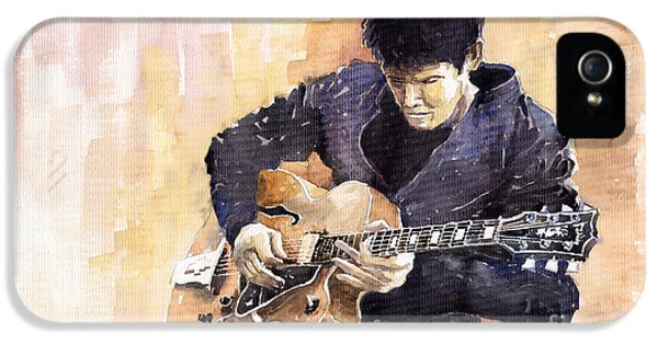 Music Legend iPhone 5 Cases - Jazz Rock John Mayer 02 iPhone 5 Case by Yuriy  Shevchuk