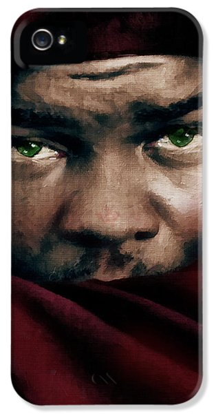 Face iPhone 5 Cases - Jealous Othello iPhone 5 Case by Georgiana Romanovna