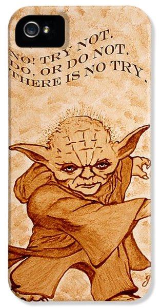 Yoda iPhone 5 Cases - Jedi Yoda Wisdom iPhone 5 Case by Georgeta  Blanaru