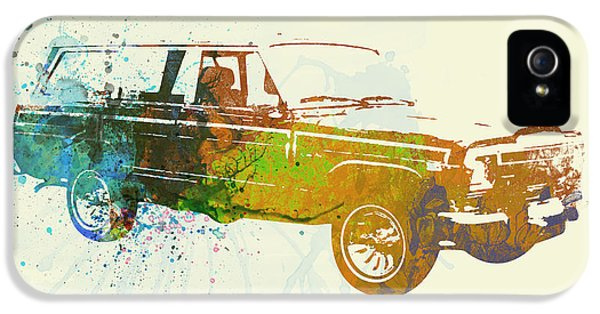 Vintage Cars iPhone 5 Cases - Jeep Wagoneer iPhone 5 Case by Naxart Studio