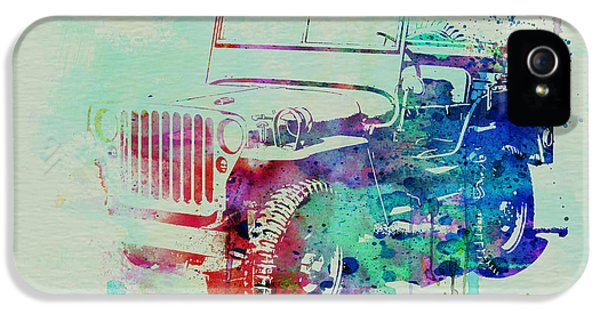 Vintage Cars iPhone 5 Cases - Jeep Willis iPhone 5 Case by Naxart Studio