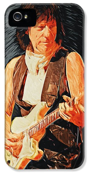 Jeff Beck IPhone 5 / 5s Case by Taylan Apukovska