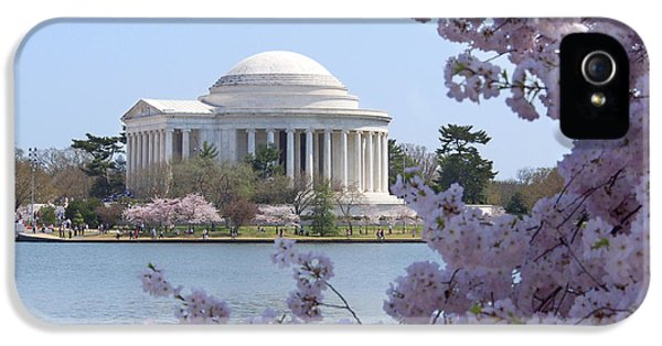 Jefferson Memorial - Cherry Blossoms IPhone 5 / 5s Case by Mike McGlothlen