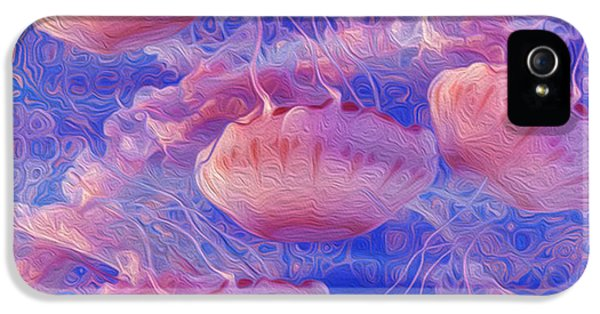 Polyp iPhone 5 Cases - Jellyfish iPhone 5 Case by Jack Zulli