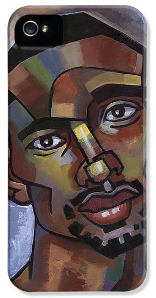 Male iPhone 5 Cases - Jerome Has a Good Thought iPhone 5 Case by Douglas Simonson
