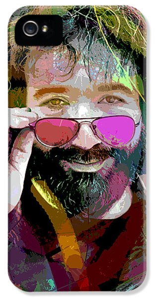 Pop Icon iPhone 5 Cases - Jerry Garcia Art iPhone 5 Case by David Lloyd Glover