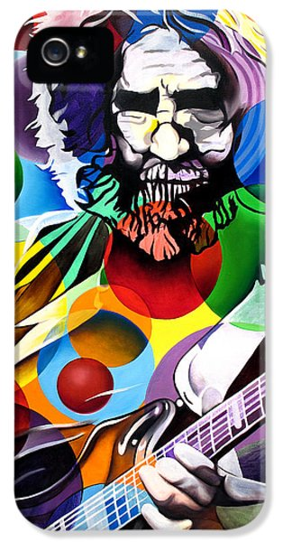 Dead iPhone 5 Cases - Jerry Garcia in Bubbles iPhone 5 Case by Joshua Morton