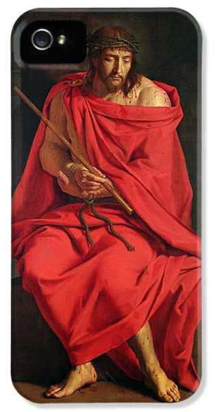 Cane iPhone 5 Cases - Jesus Mocked Oil On Canvas iPhone 5 Case by Philippe de Champaigne