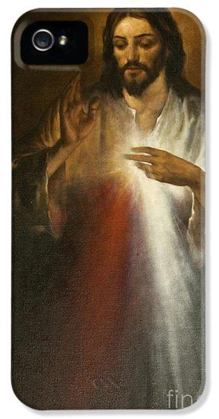 Jesus Of Divine Mercy IPhone 5 / 5s Case by Dan Radi