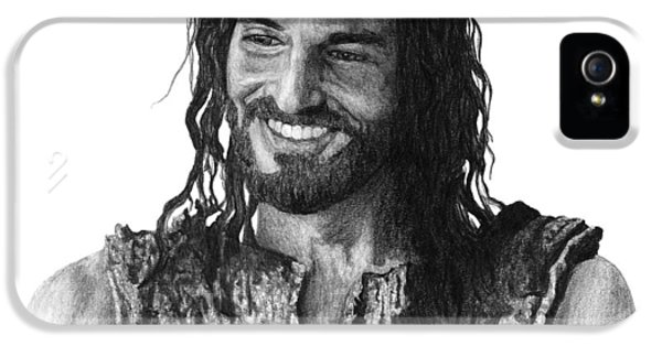 Smiling iPhone 5 Cases - Jesus Smiling iPhone 5 Case by Bobby Shaw