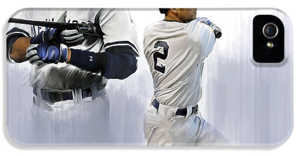 Jeter V Derek Jeter IPhone 5 / 5s Case by Iconic Images Art Gallery David Pucciarelli