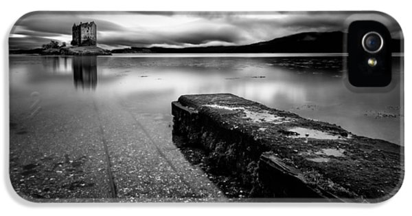 Castle iPhone 5 Cases - Jetty to Castle Stalker iPhone 5 Case by Dave Bowman