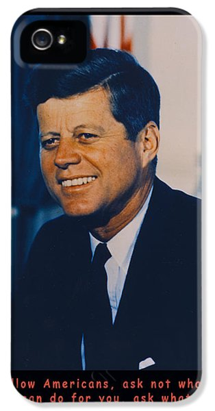 The White House Photographs iPhone 5 Cases - JFK John F Kennedy iPhone 5 Case by Official White House Photo