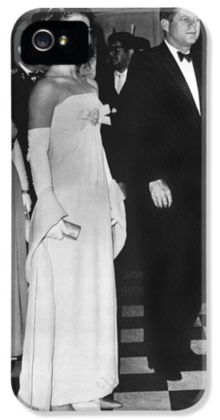 Jfk Mexico Reception IPhone 5 / 5s Case by Underwood Archives