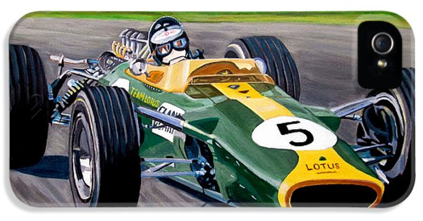 Formula One World Champion iPhone 5 Cases - Jim Clark iPhone 5 Case by Jose Mendez