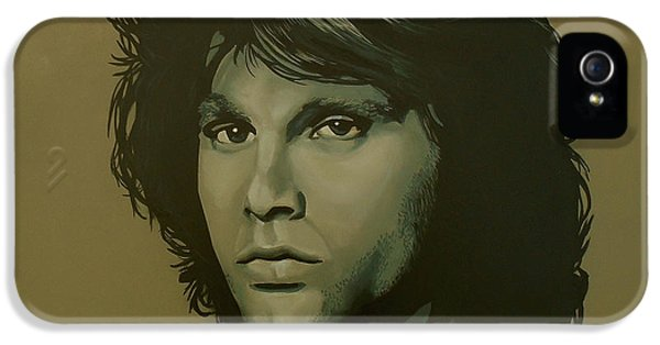 Oliver Stone iPhone 5 Cases - Jim Morrison iPhone 5 Case by Paul  Meijering