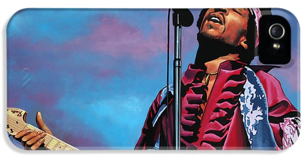 Brother iPhone 5 Cases - Jimi Hendrix 2 iPhone 5 Case by Paul  Meijering