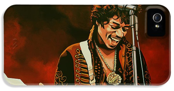 Brother iPhone 5 Cases - Jimi Hendrix iPhone 5 Case by Paul  Meijering