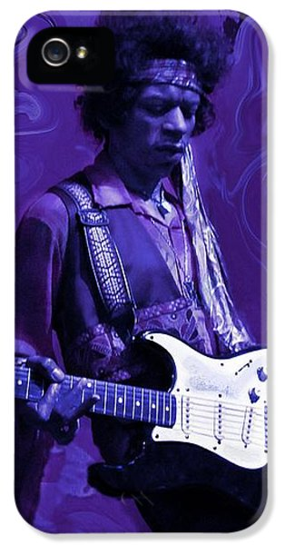 Jimi Hendrix Purple Haze IPhone 5 / 5s Case by David Dehner