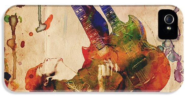 Jimmy Page - Led Zeppelin IPhone 5 / 5s Case by Ryan Rock Artist