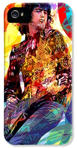 Jimmy Page Leds Lead IPhone 5 / 5s Case by David Lloyd Glover