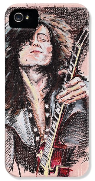 Lead iPhone 5 Cases - Jimmy Page iPhone 5 Case by Melanie D