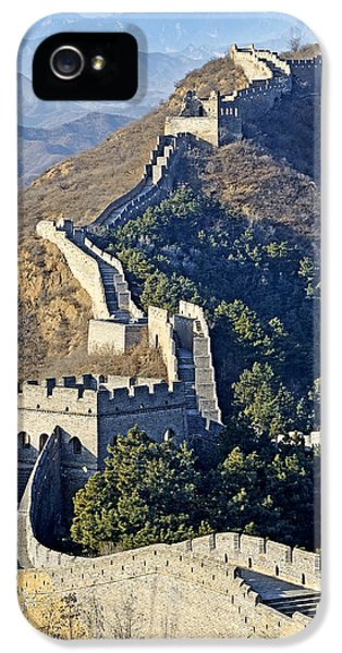 Nl iPhone 5 Cases - Jinshanling Section of the Great Wall of China iPhone 5 Case by Brendan Reals