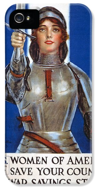 Arc iPhone 5 Cases - Joan Of Arc Saved France iPhone 5 Case by William Haskell Coffin