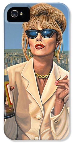 Steel iPhone 5 Cases - Joanna Lumley as Patsy Stone iPhone 5 Case by Paul Meijering