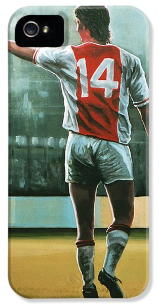 Johan Cruijff Nr 14 Painting IPhone 5 / 5s Case by Paul Meijering