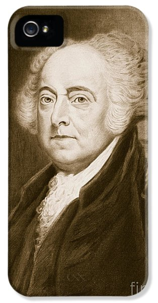 President Of The United States iPhone 5 Cases - John Adams iPhone 5 Case by George Healy