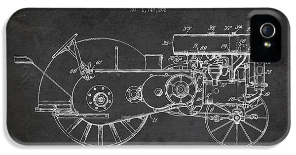 Tractor iPhone 5 Cases - John Deer Tractor Patent drawing from 1930 - Dark iPhone 5 Case by Aged Pixel